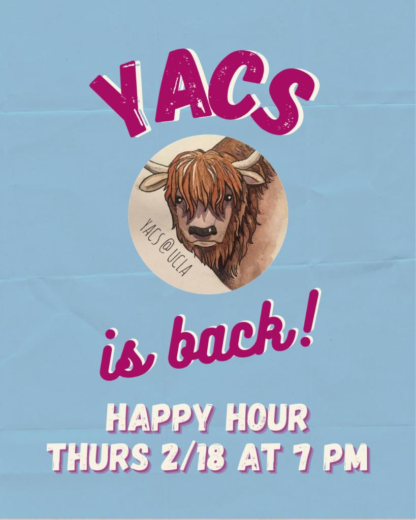 YACS Happy Hour flyer
