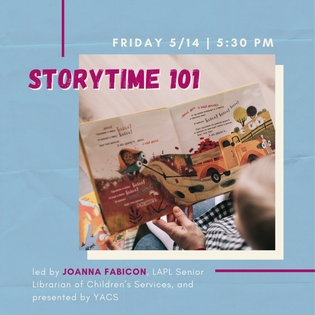 event info for Storytime 101